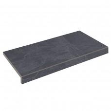 Бортовая плитка Aquaviva Ardesia Black Г-образная, 595x345x50(20)