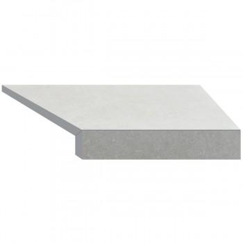 Угловой элемент бортовой плитки Aquaviva Granito light gray, Г-образный, 595x345x50(20) правая/45°