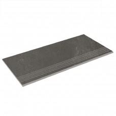 Бортовая плитка прямая Aquaviva Montagna Dark Gray, 595x289x20 мм