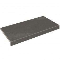 Бортовая плитка Aquaviva Montagna Dark Gray, Г-образная, 595x345x50(20)