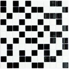 Мозаика Котто GM 4001 C2 black/white 30x30 фото