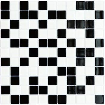 Мозаика Котто GM 4001 C2 black/white 30x30