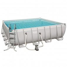 Каркасный бассейн Bestway 56626 (488х488х122) с картриджным фильтром