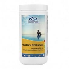 Бесхлорная дезинфекция Chemoform Aquablanc O2 Sauerstoffgranulat 1кг (гранулы)  фото
