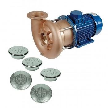 Гидромассаж FitStar Combi Whirl 4 С (4 форсунки, 4 кВт, окончательный комплект, для плитки)