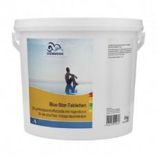 Бесхлорная дезинфекция Chemoform Blue Star 5 кг. (табл.200 г +100 г)  фото