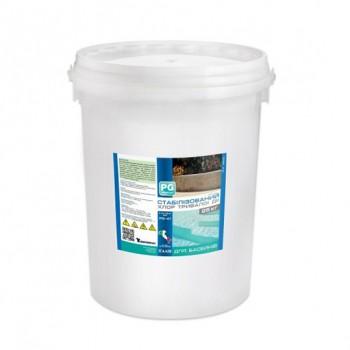 Стабилизированный хлор длительного действия 90% 25 кг. (табл. по 200 г.)