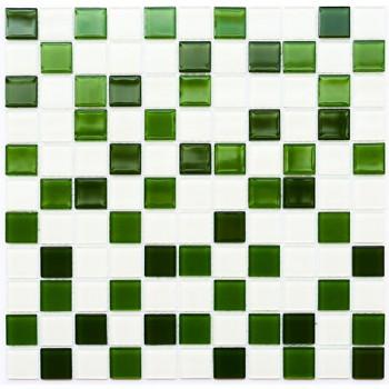 Мозаика Котто GM 4030 C3 green d/green m/white 30x30