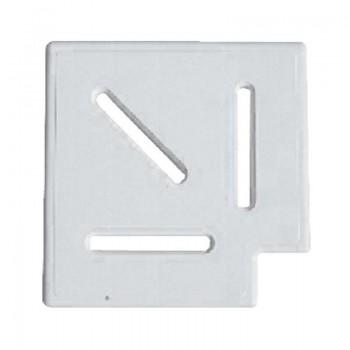 Угловой элемент AquaViva Classic и Grift для переливной решетки 90° 195/25 мм (белый)