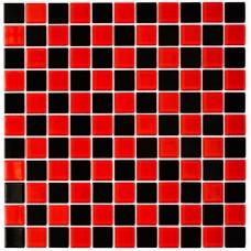 Мозаика Котто GM 4003 CС black/red m 30x30 фото