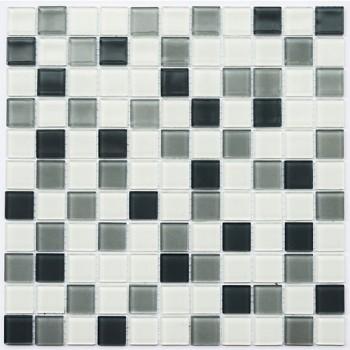 Мозаика Котто GM 4043 C3 steel d/steel m/white 30x30