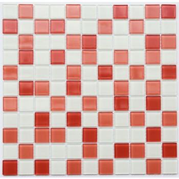 Мозаика Котто GM 4028 C3 pink d/pink w/white 30x30
