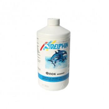 Средство против мутной воды Delphin Флок  1л (жидкий)