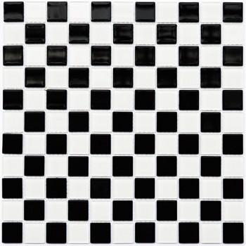 Мозаика Котто GM 4002 CС black/white 30x30