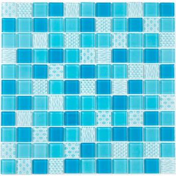 Мозаика Котто GM 4051 C3 Blue d/Blue m/Structure 30x30