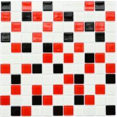 Мозаика Котто GM 4007 C3 black/red m/white 30x30