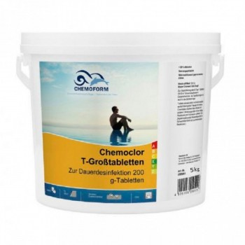 Хлор длительного действия Chemoform Chemochlor-T-Grosstabletten 5 кг (табл. 200 г)