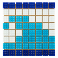Мозаика стеклянная Aquaviva Фриз Волна