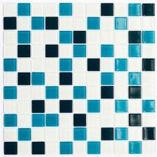 Мозаика Котто GM 4021 C3 cerulean d/cerulean m/white 30x30