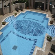 Панно из мозаики для бассейна фото