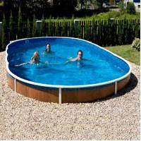 Сборный морозостойкий бассейн Mountfield Azuro DE LUXE 405DL Mistry (7.3х3.7x1.2 м, пленка 0.35 мм)