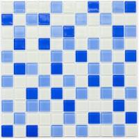 Мозаика Котто GM 4040 C3 cobalt m/cobalt w/white 30x30