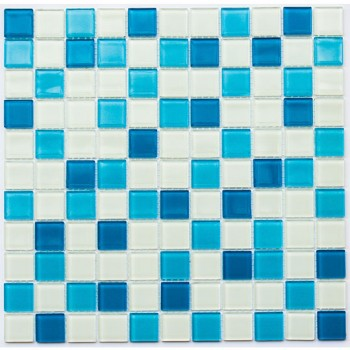 Мозаика Котто GM 4019 C3 blue d/blue m/white 30x30