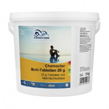 Хлор длительного действия Chemoform Multitab 5 кг. (табл. 20г)