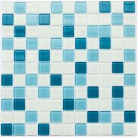 Мозаика Котто GM 4039 C3 cerulean m/cerulean w/white 30x30