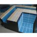 Плитка керамическая бордюрная с поручнем и водостоком Aquaviva, кобальт+беж  фото 1