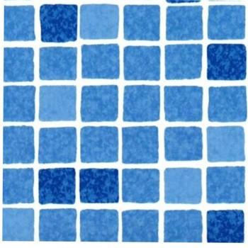 Пленка ПВХ Elbeblue Mosaic blue (1123/01 мозаика синяя), ширина 1,65 м